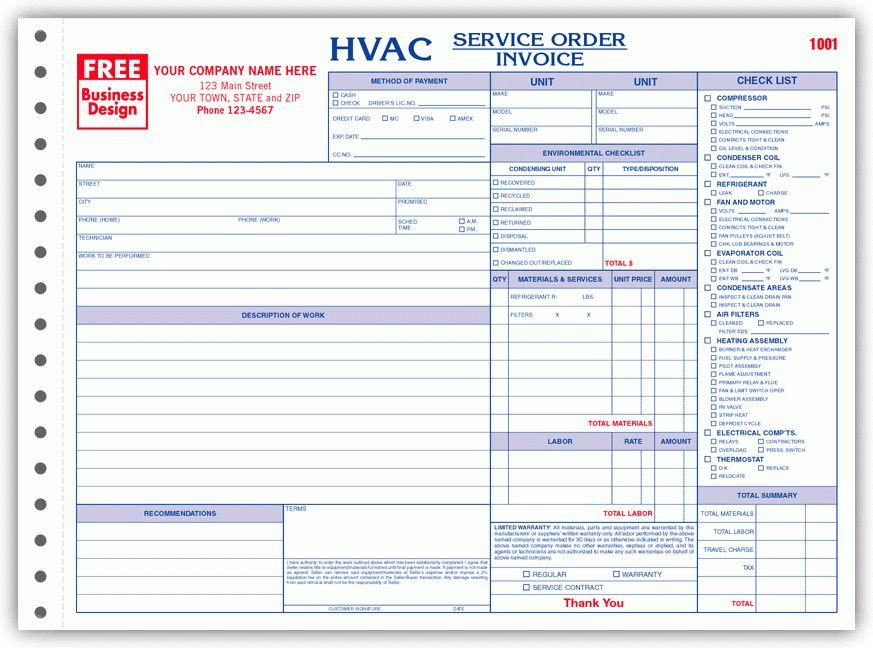Hvac Invoice Template   free to do list