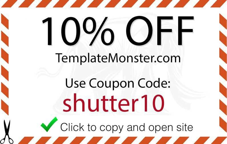 Template Monster Promo Code - Shutter Muse