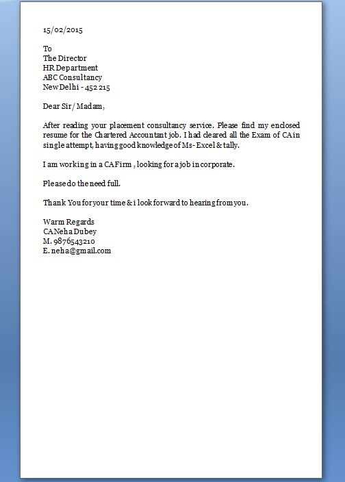 Great Cover Letter Examples inside A Great Cover Letter - My ...