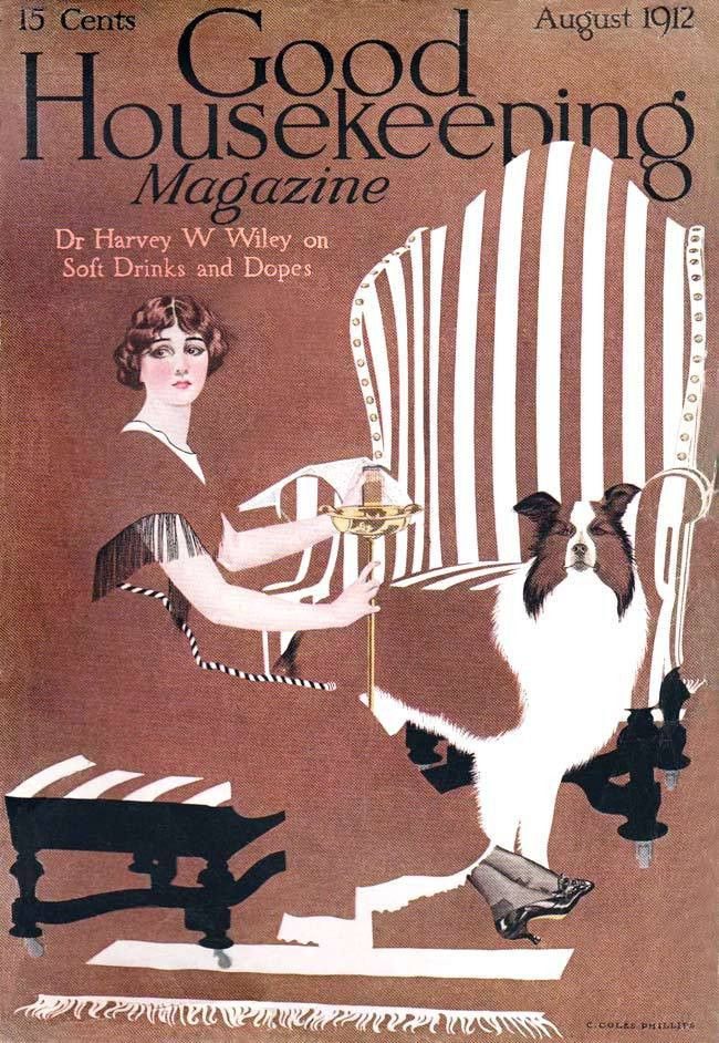 Good Housekeeping cover by C. Coles Phillips, August 1912 | Print ...