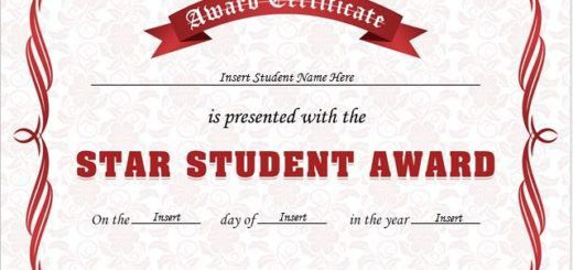 Student of the Year Award Certificates | Professional Certificate ...
