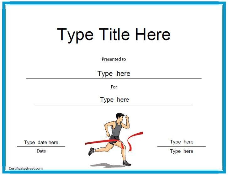 Sports Certificates - Running Award Certificate Template ...