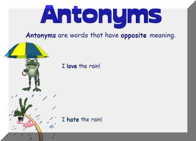 Antonyms/Synonyms: another idea...having students create sentences ...