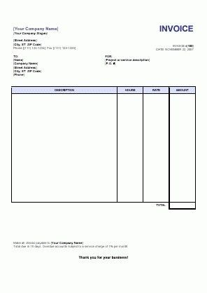 Sample Invoices For Services - Best Resume Collection