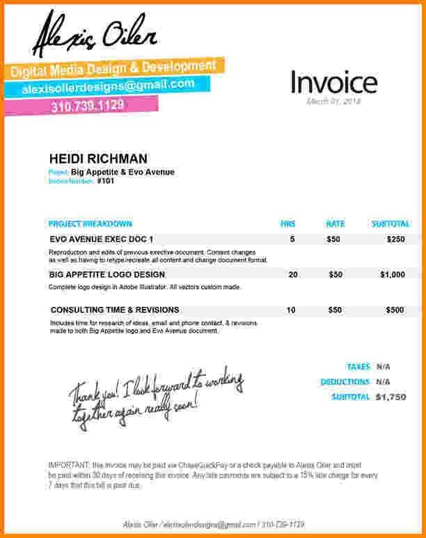 6+ invoice graphic design | Short paid invoice