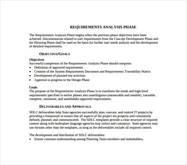 Magnificent Requirements Analysis Template Photos  Example Resume
