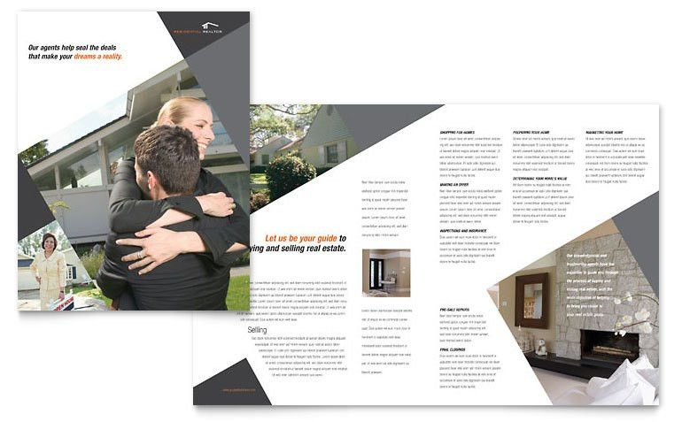 Contemporary & Modern Real Estate Brochure Template - Word & Publisher