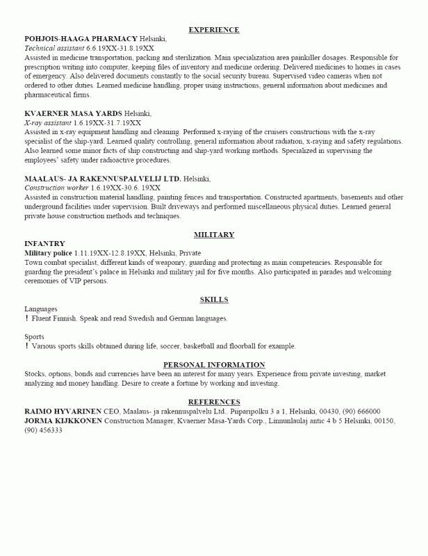 How To Write An American Resume | Samples Of Resumes