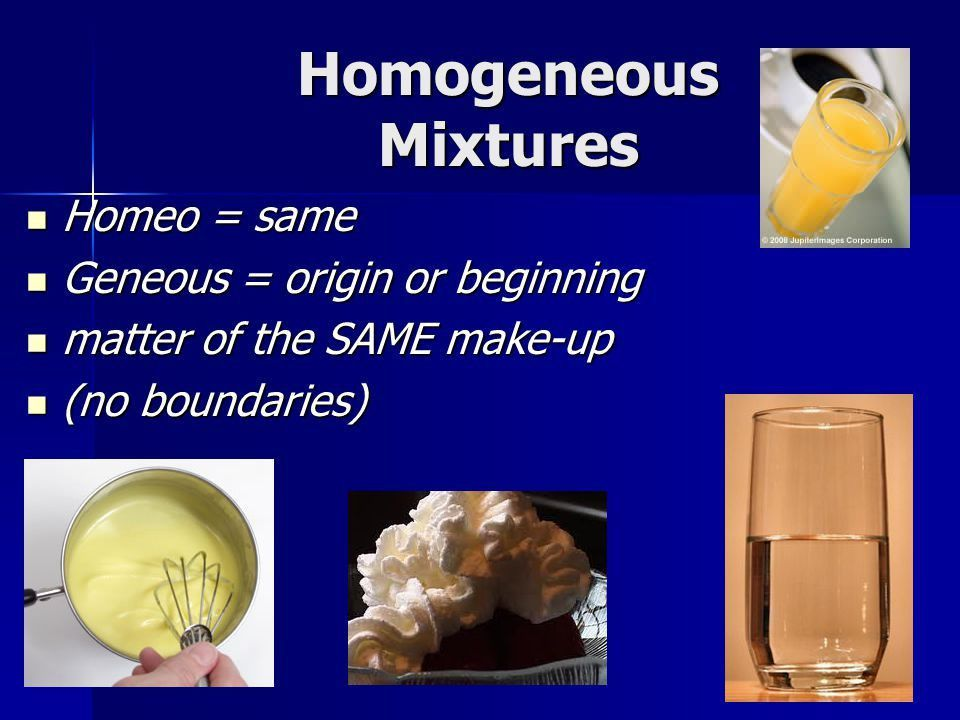 Examples of homogeneous mixtures - admissions guide
