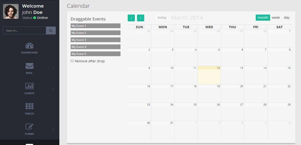 Mint - Premium Responsive Retina Flat Admin Dashboard Template