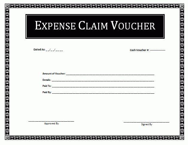 Expense Voucher Template | Voucher Templates