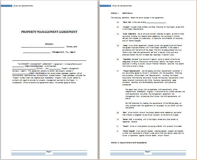 MS Word Rental Agreement Templates | Free Agreement Templates