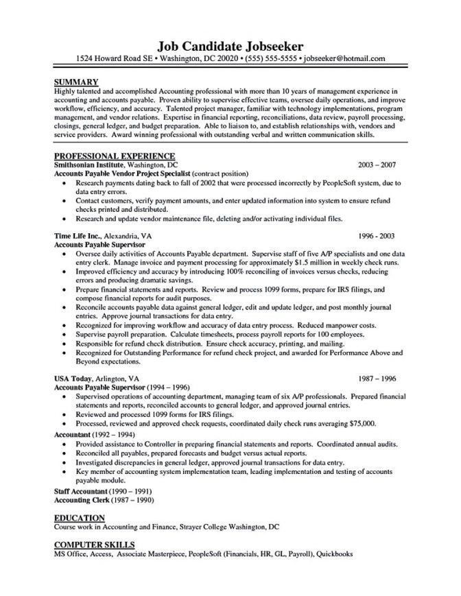 Download Account Payable Clerk Sample Resume ...