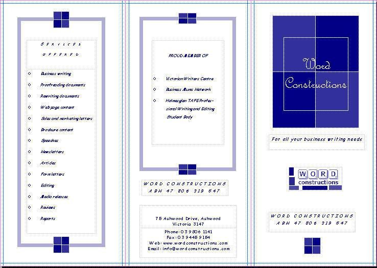 Brochure Sample for Word Constructions