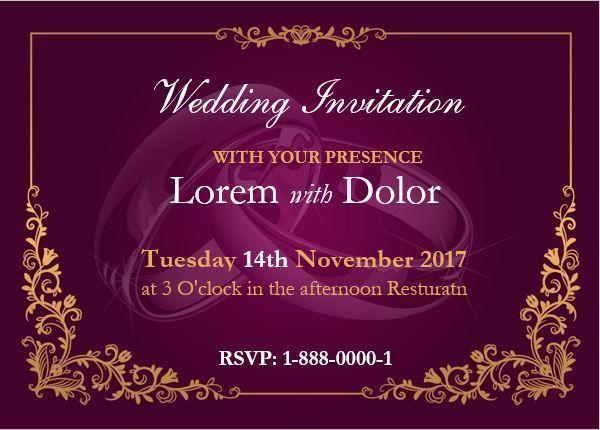 Professionally Design Wedding Invitation Card Template | Word ...