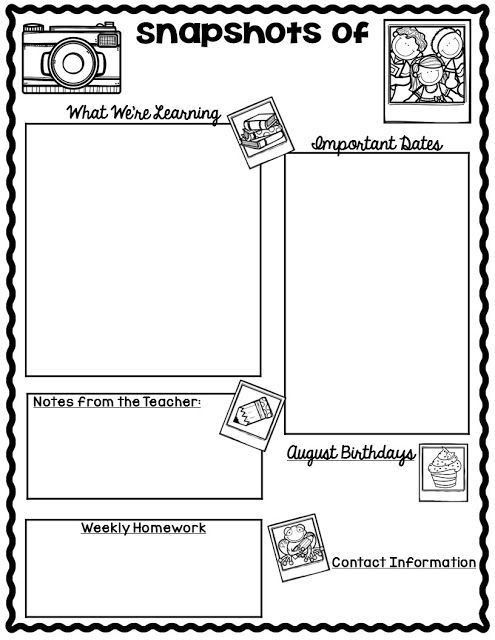 Best 10+ Newsletter format ideas on Pinterest | Kindergarten ...