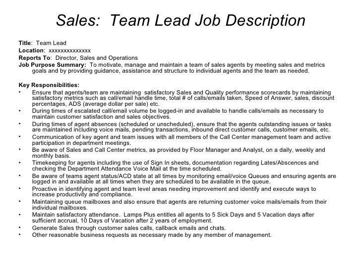 sales supervisor job description sales supervisor job description