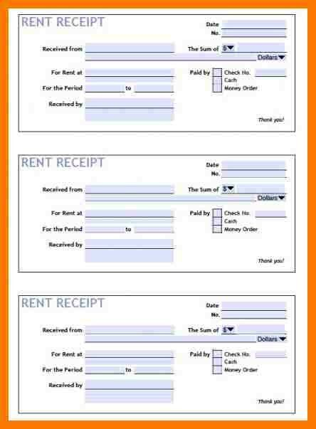 6+ rental receipt template excel | park-attendant