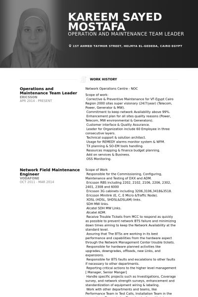 Team Leader Resume samples - VisualCV resume samples database