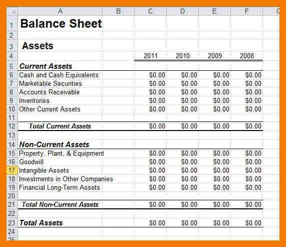 5+ balance sheet excel format free download | mailroom clerk