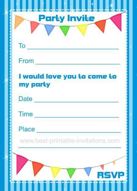 Birthday Invitations - Printable