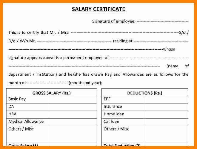 4+ salary certificate format uae | forklift resume