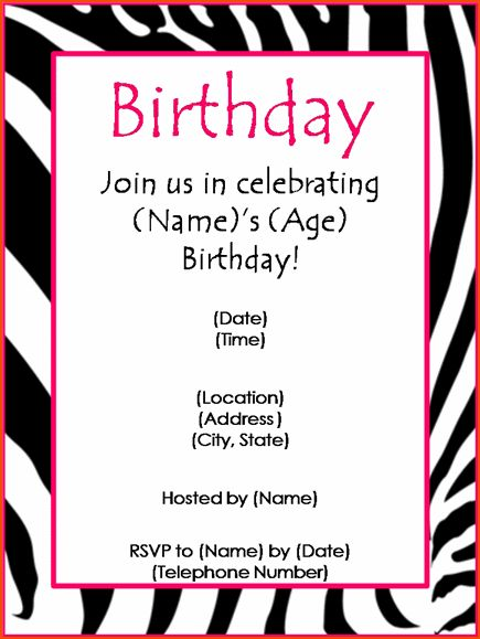 7+ party invitation template word - bookletemplate.org