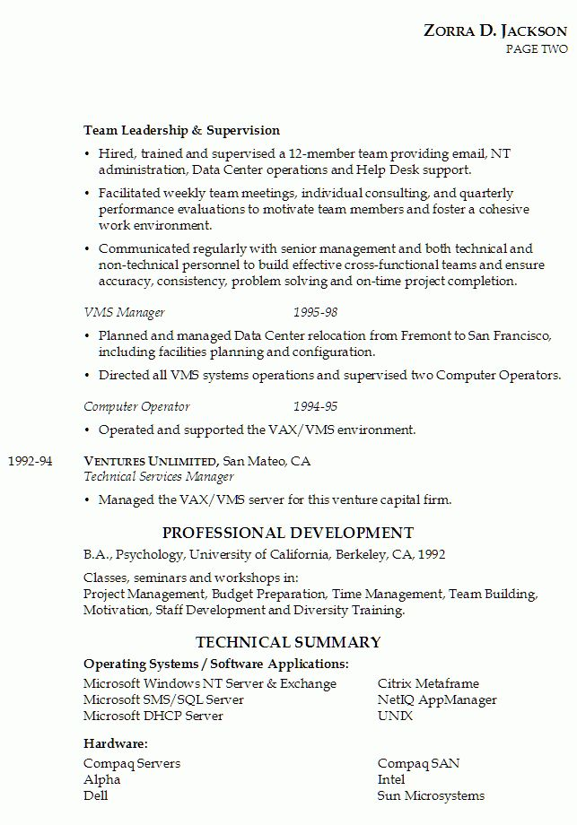 Resume for IT Management - Susan Ireland Resumes