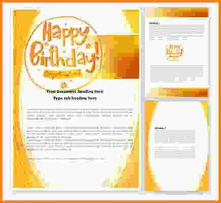 Birthday Card Word Template 10 Ms Word Format Birthday Templates – Word Birthday Card Template