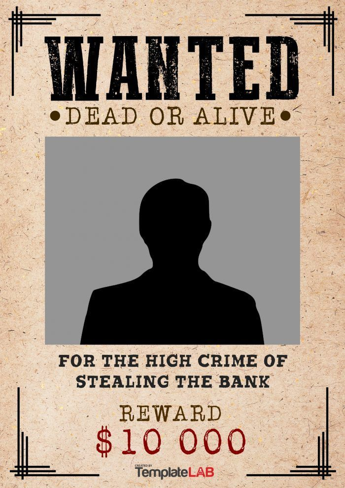 Free Wanted Poster Template - Contegri.com