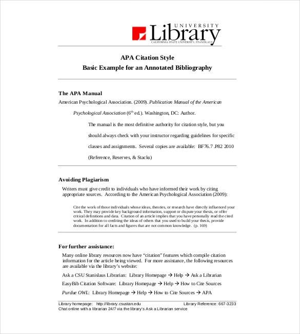 Annotated Bibliography Template – 4+ Free Word, Excel, PDF ...