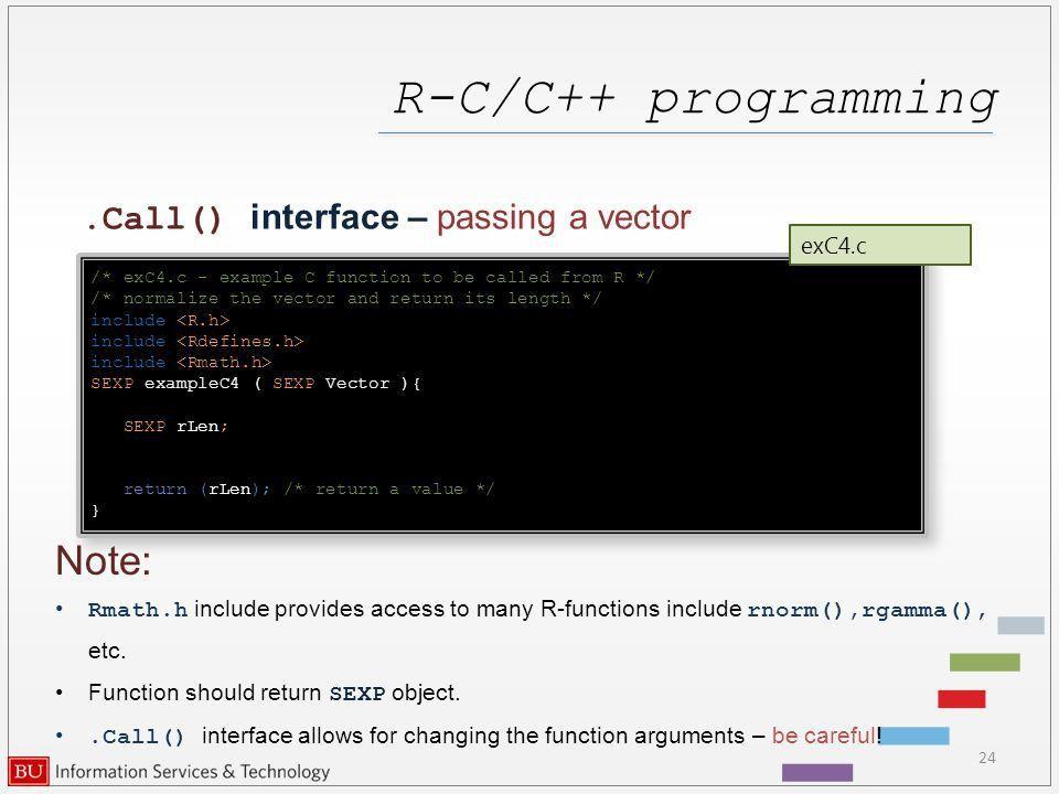 R – C/C++ programming Katia Oleinik Scientific Computing and ...