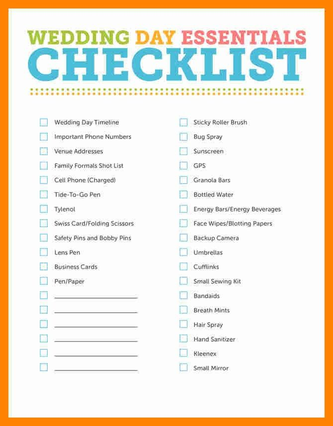 3+ wedding checklist book | resume sections
