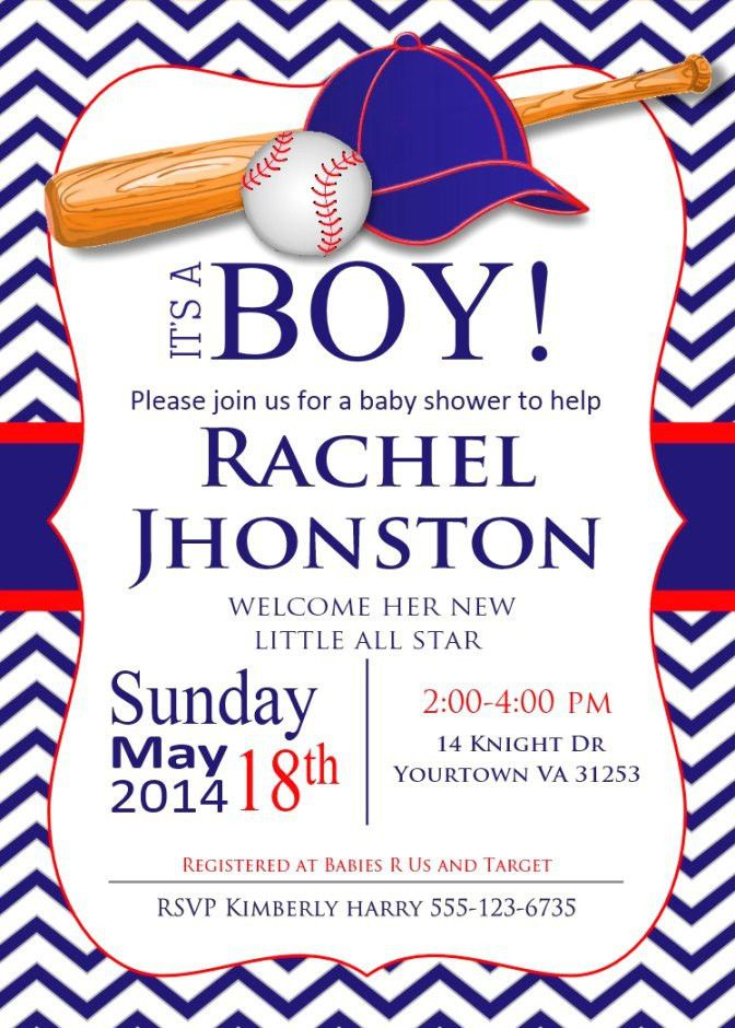 Free Printable Baby Boy Shower Invitation Templates | THERUNTIME.COM