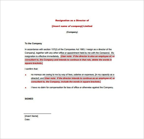 18+ Example of Resignation Letter Templates – Free Sample, Example ...