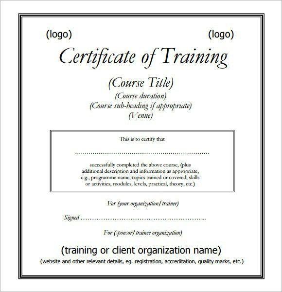 Amazing Training Certificate Sample Gallery - Best Resume Examples ...