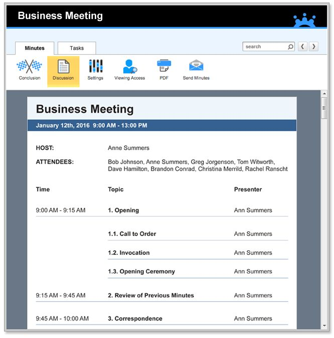 Business Meeting Agenda Templates
