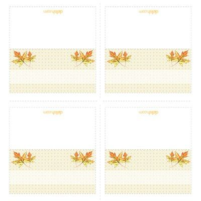 Cutouts - Printable Template - Printable Place Cards - Holiday ...
