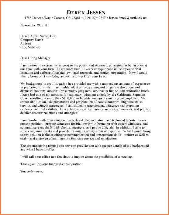 Super Cool Attorney Cover Letter 7 Best Legal Assistant Examples ...