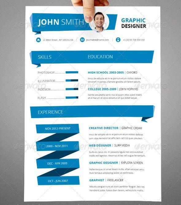 20 Cool InDesign Resume Templates – BlogofTheWorld
