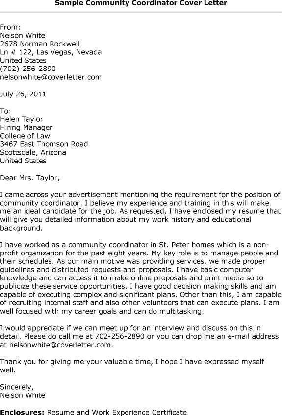 Cover letter for admissions coordinator position » 100% Original