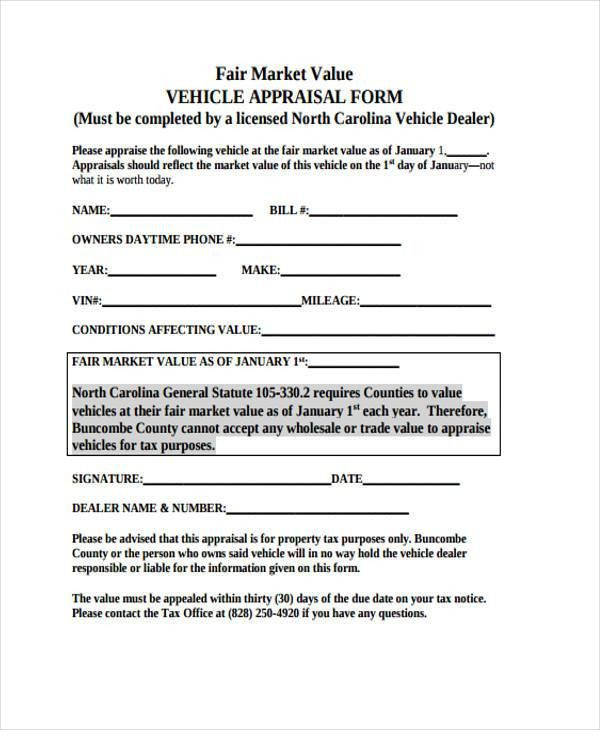 11+ Blank Appraisal Form Sample - Free Sample, Example Format Download