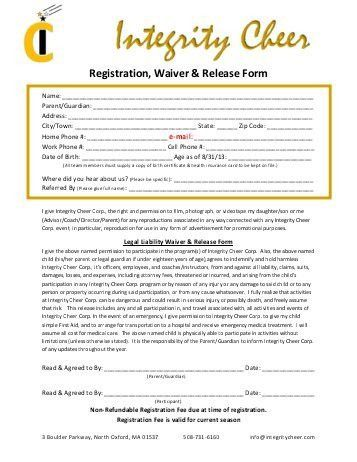 Medical Waiver Form. Sample Release Of Liability Form Template ...