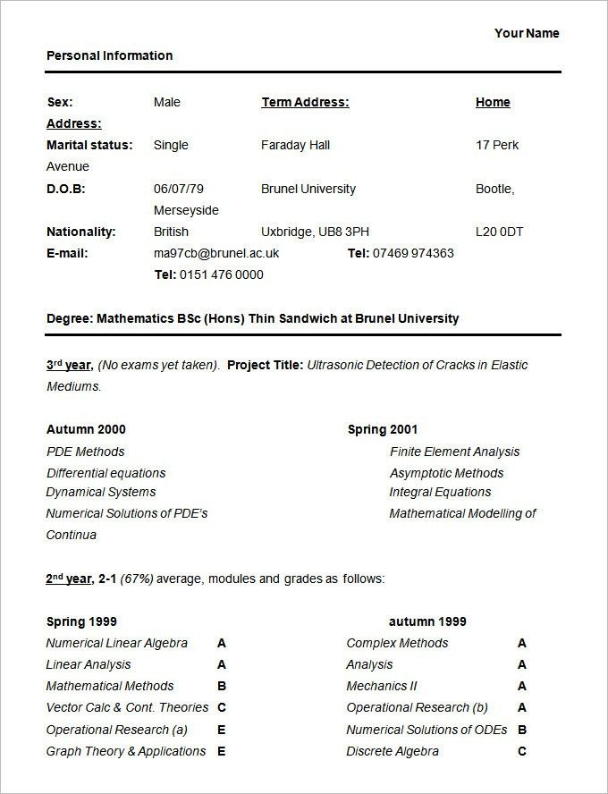 Student Resume Format 20 Resume Objective Example For Summer Job ...