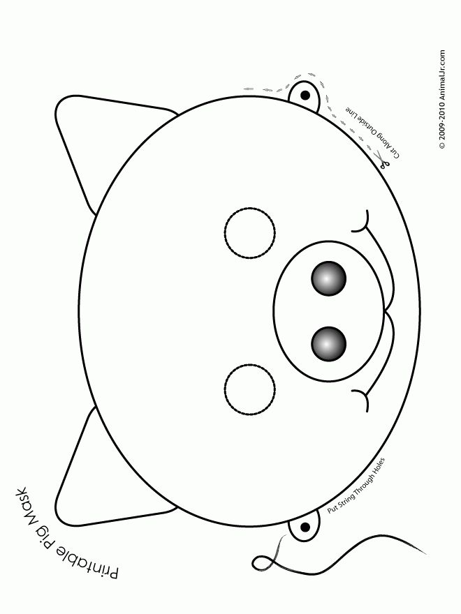 Printable Animal Masks: Pig Mask - Woo! Jr. Kids Activities