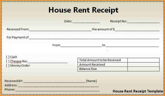 6+ rent receipt format | writable calendar