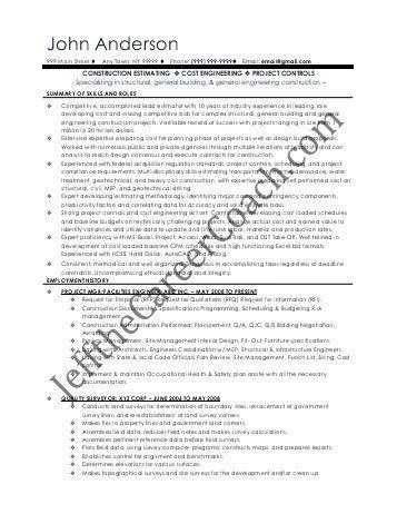 JOB DESCRIPTION TITLE: Project Quantity Surveyor POST NO ...