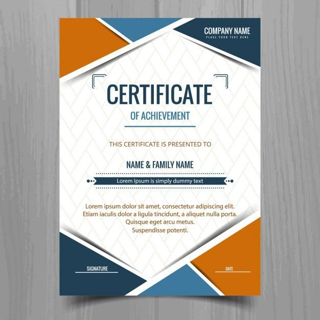 Corporate certificate template 27 word certificate templates free certificate template with geometric shapes vector free download yelopaper Choice Image