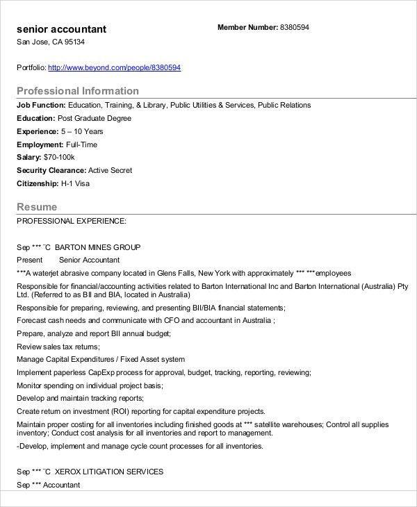 31+ Accountant Resume Samples | Free & Premium Templates
