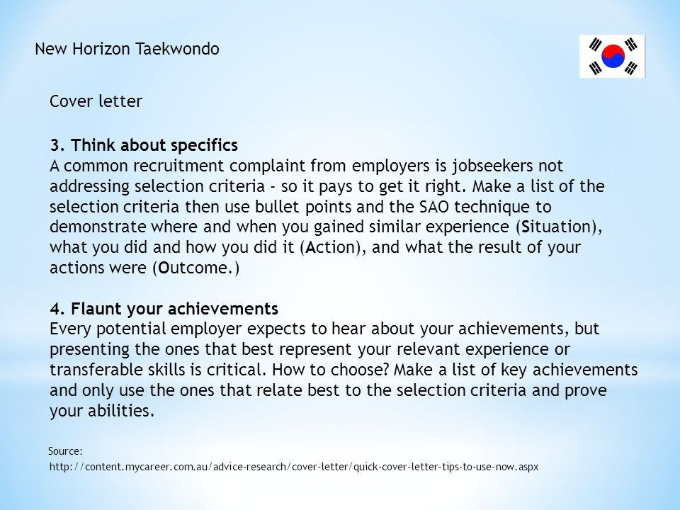 how to address selection criteria in cover letter examples